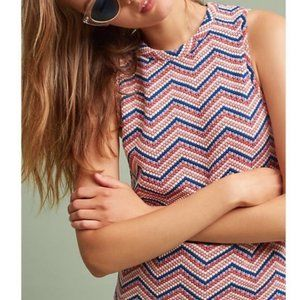 Anthropologie Postmark Chevron Dot Sleeveless Top